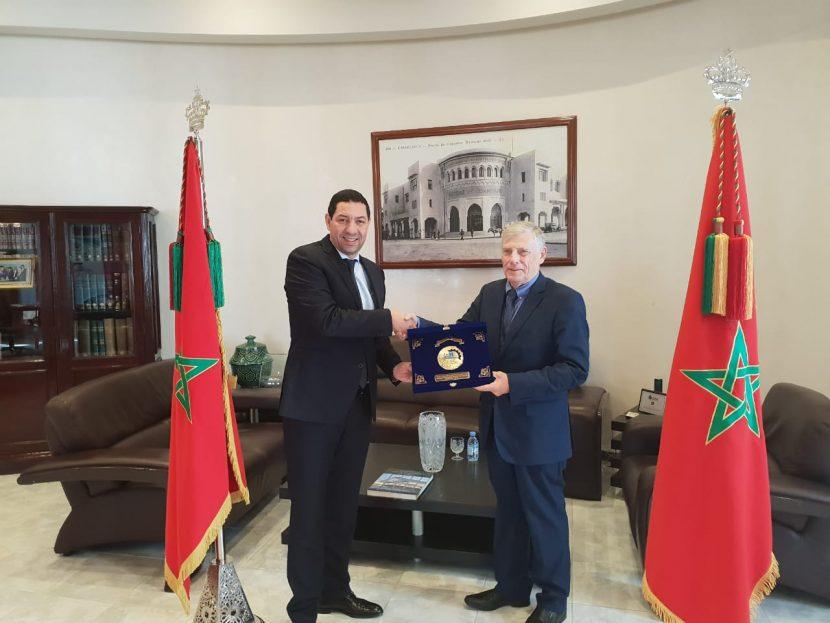 Rencontre Président CCI Wallonie et CCIS Casablanca Settat.